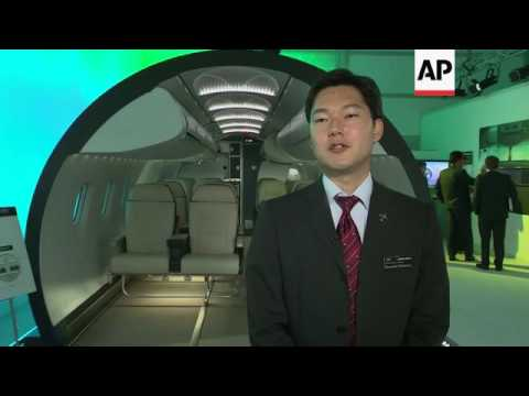 Mitsubishi shows off new regional jet cabin