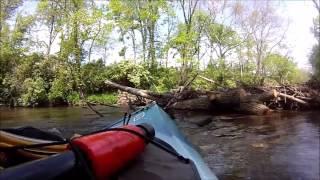 Mad River log jam Urbana Ohio, SW Ohio Kayaker