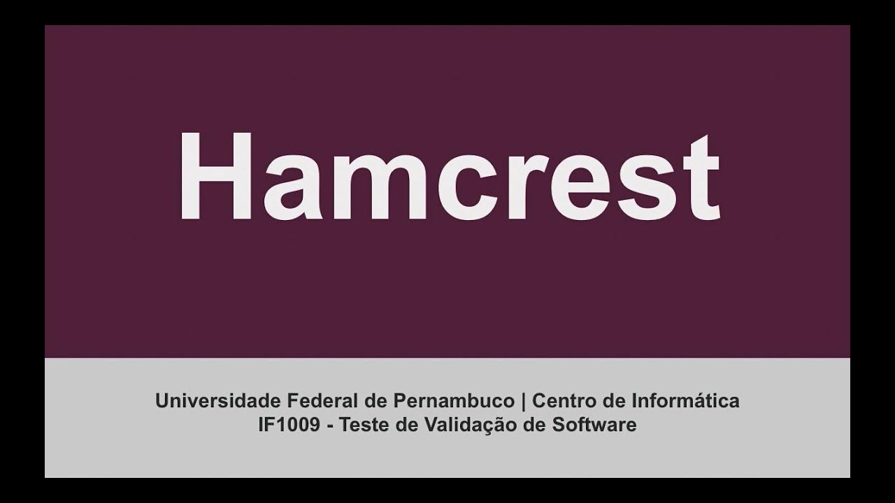 Teste de Software - Hamcrest