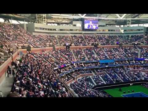 Ben Platt Performing At The US OPEN TENNIS Tournament In New York City Stadium Concert Show