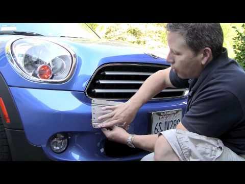 no holes license plate for mini countryman - Mini Cooper License Plate Frame