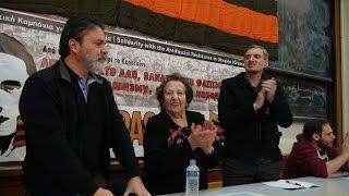 В афинском Политехнио,  прошел митинг посвященный антифашистскому сопротивлению в Украине.