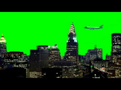 Cartoon Animation Wallpaper Free Download Nyc New York City Planes Fly By Green Screen Animation