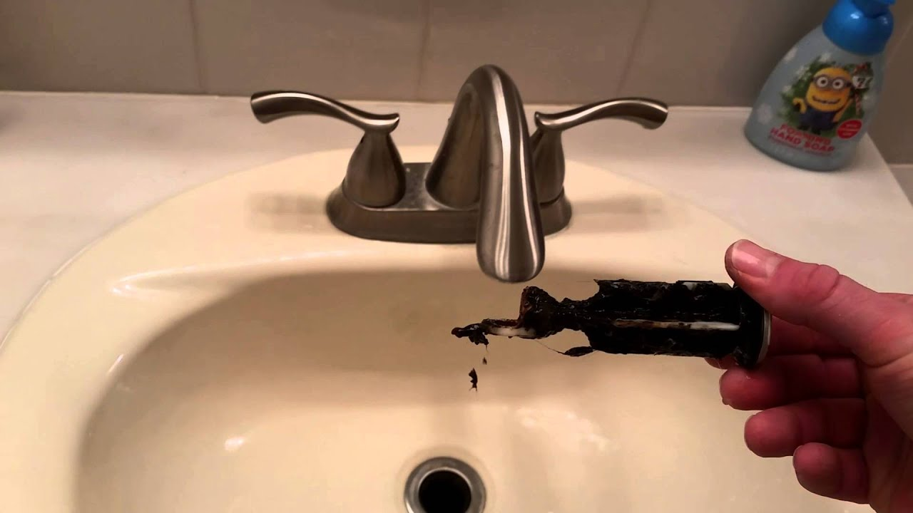 Bathroom Sink Quick Fix How To Remove And Clean The Stopper Unclog Sink Pop Up Drain Youtube