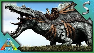 WE HAD TO USE CANNONS ON HIM! NEW ARMORED SPINOSAURUS TAMING! - Ark: Jurassic Park [E55]