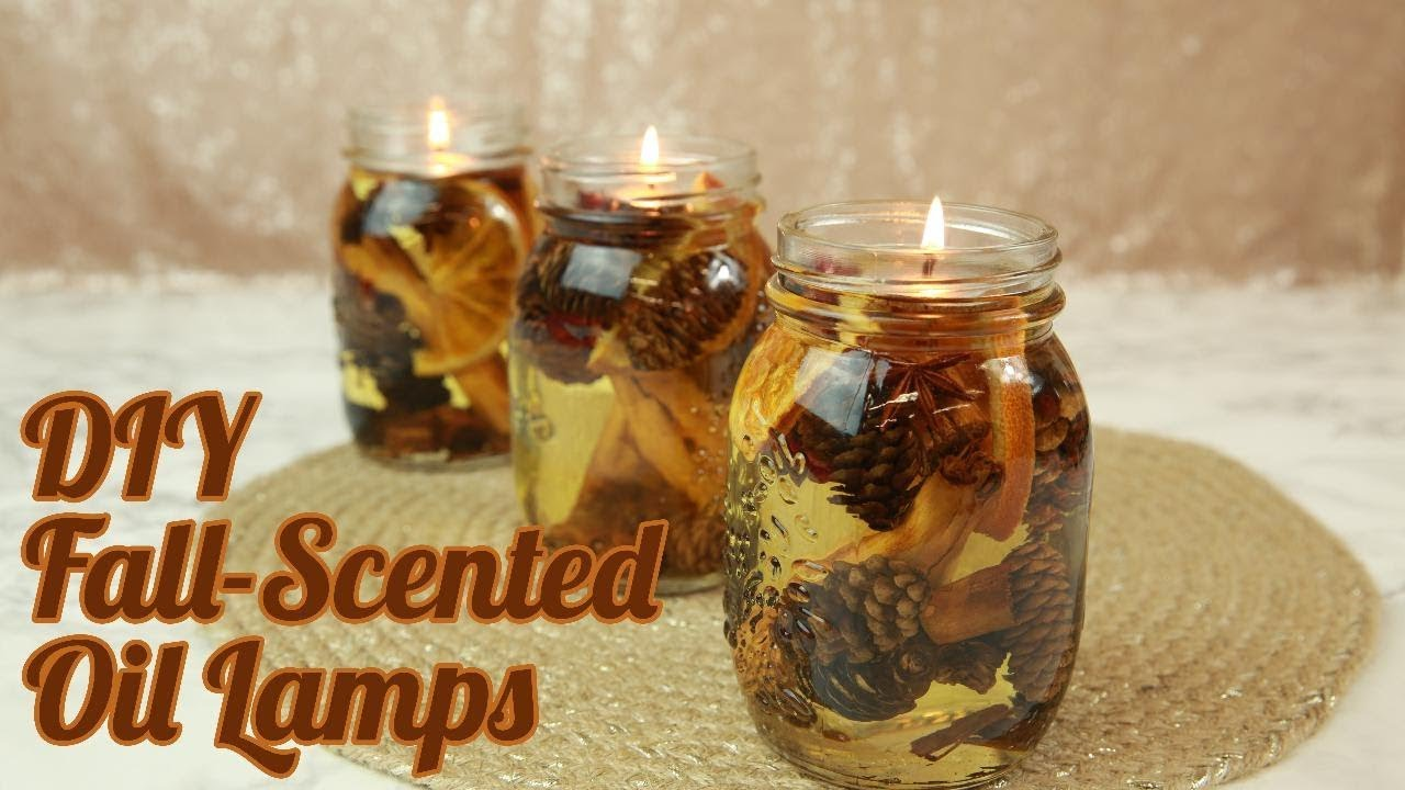 Diy Fall Scented Oil Lamps Hg Craft Hellogiggles Youtube