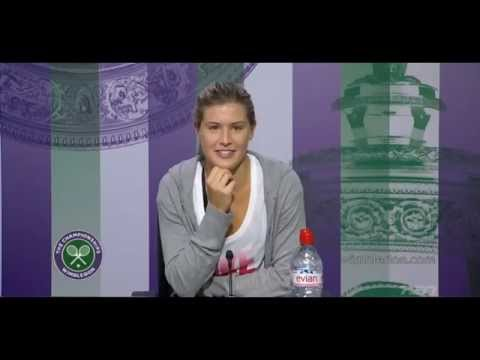 Genie Bouchard Wimbledon 2014 SF Press Conference