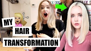 Cutting My Hair Off & Bleaching It Platinum (& My BF's Reaction!) *for real this time*