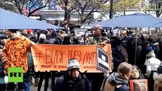 'Out of the Stores!' Ferguson protesters target Black Friday mall sales in NYC