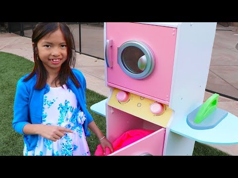 Wendy Pretend Play with GIANT Washing Machine Toy