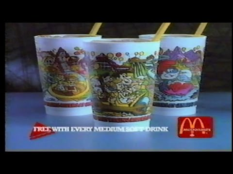 Mcdonalds Commercials 1980s Wonderland Cups