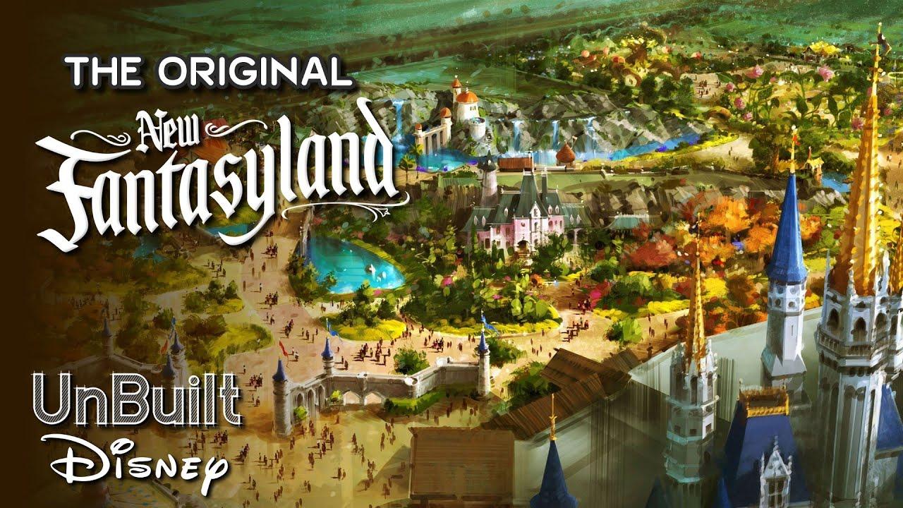 The Original New Fantasyland at Magic Kingdom - UnBuilt Disney