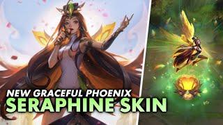 🎵 🐦 *NEW* GRACEFUL PHOENIX SERAPHINE SKIN is very 'nature-y' | Seraphine Full PBE Gameplay | Luminum