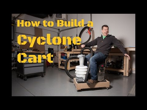 A Simple & Effective Shop Vac Dust Collection Cyclone Cart