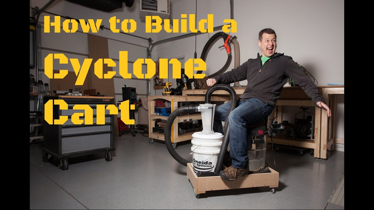 A Simple Amp Effective Shop Vac Dust Collection Cyclone Cart