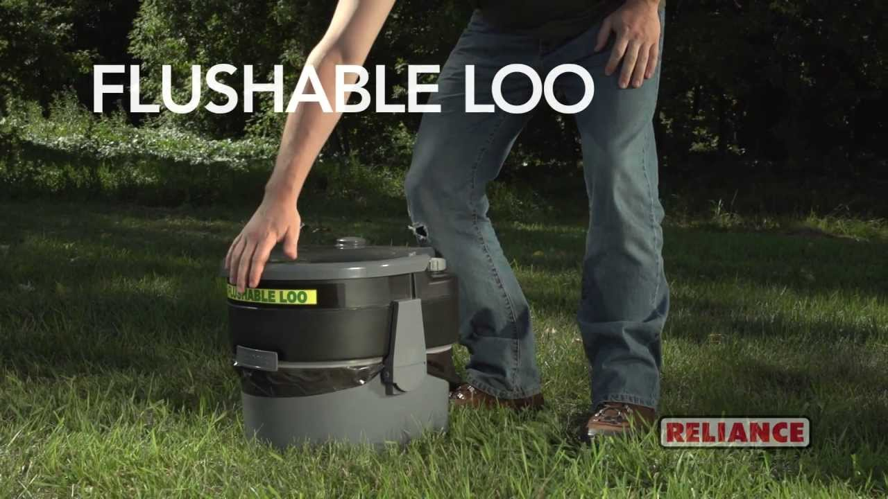 Reliance Products Flushable Loo Demo  see note  YouTube
