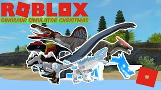 Roblox Dinosaur Simulator Christmas - UPDATE IS HERE! (Movie Spinosaurus, Barosaurus, PIZZA MAPU!)