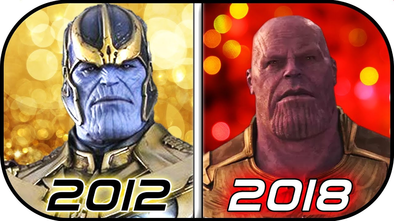 Evolution Of Thanos In Movies 2012 2018 History Of Thanos Avengers Infinity War
