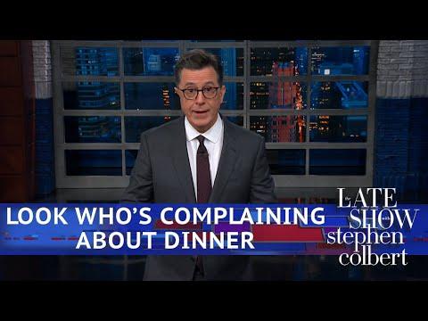 See Colbert Joke - Tucker Carlson Can't Go To Restaurants Anymore!