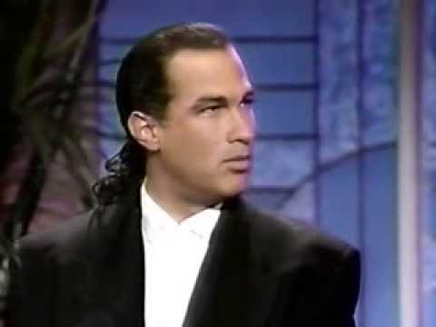 "Steven Seagal and Kelly LeBrock on Arsenio Hall Show promoting ""Hard to Kill"""