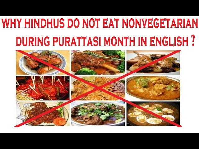 Why Hindus do not eat Non-vegetarian food during Purattasi Month?
