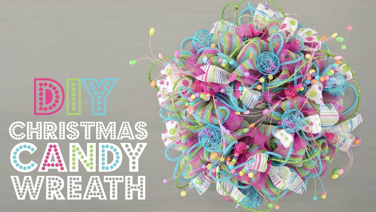 Geo mesh wreath form - Deco Mesh Christmas Candy Wreath