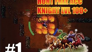 Tibia: Hunt para Knight level 100+ FREE ACCOUNT - Nova Cave de Drillworm em Kazz