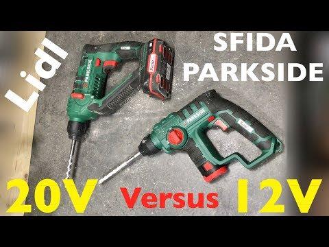 Sfida Trapano Battente Parkside Lidl. 12V VS 20V. PBHA 12 A1 E PABH 20-Li B2. Potenza E Velocità.