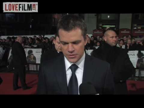 Matt Damon, Adjoa Andoh and Francois Pienaar  Invictus UK Premiere  LOVEFiLM