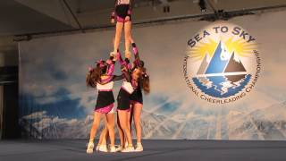 Royal 5 Panther Cheer Athletics Youth Stunt Group.  Sea-To-Sky 2014.