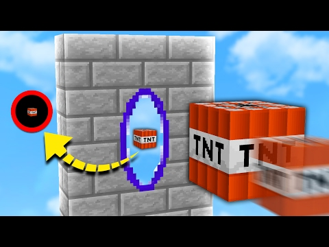 PORTAL GUN MOD in TNT WARS!   Minecraft MODDED TNT WARS
