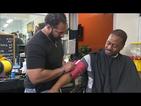 Barbershop blood pressure checks help boost men's health