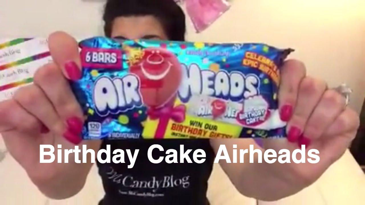 Airheads Birthday Cake Candy Review by Female Candy Reviewer, Ms  Candy Blog