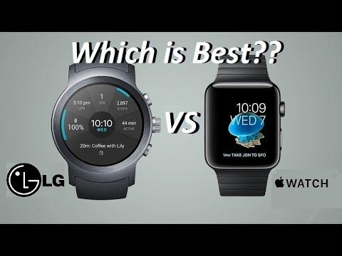 LG Watch Sport Vs  Apple Watch 2 Smartwatch Comparison