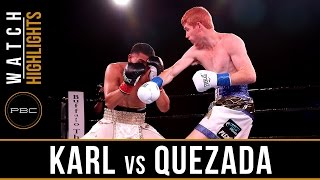Karl vs Quezada HIGHLIGHTS: September 27, 2016 - PBC on FS1