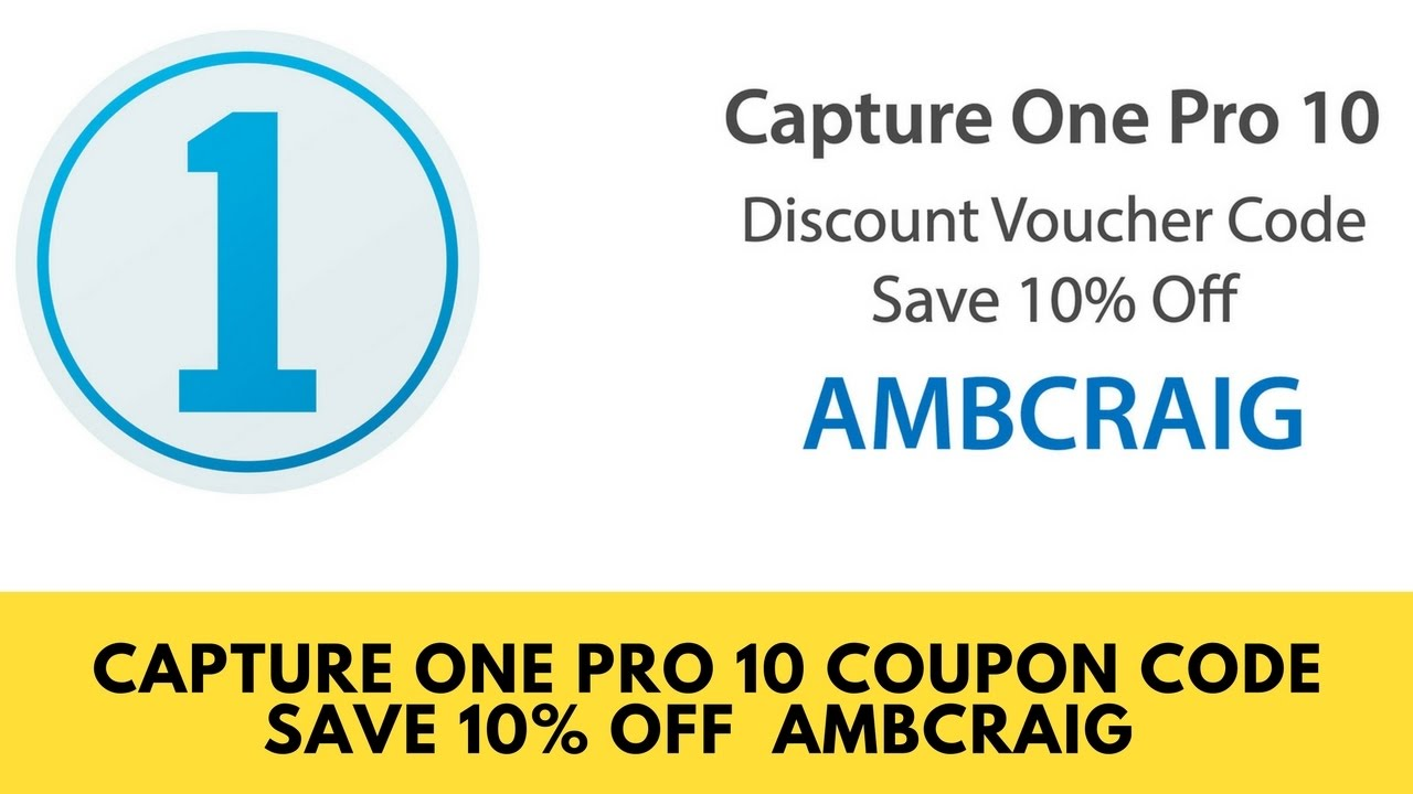 Capture One Pro 11 Voucher Code | Capture One Pro 11 Coupon Code ...