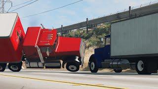 BeamNG Drive Insane Trucking Crashes #10