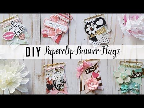 DIY Paperclip Banner Flag Decorative Planner Clips Embellishment Tutorial | Scrapcraftastic