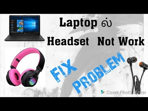 Laptop Headset Connect Not Work Fix Problem In Tamil Youtube