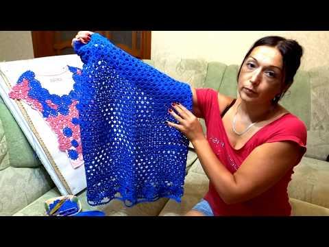 Вязание крючком со схемами платья и костюмы