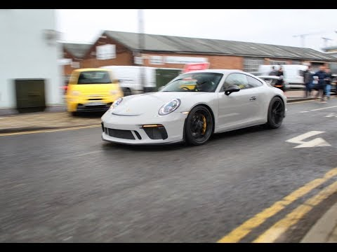 Cars & Coffee Trafford Park - Madness! Revs, Accelerations and a burnout