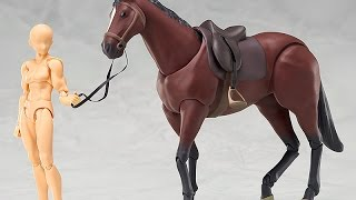 Good Smile Figma Horse (chestnut) size comparison from New York International Toy Fair 2015