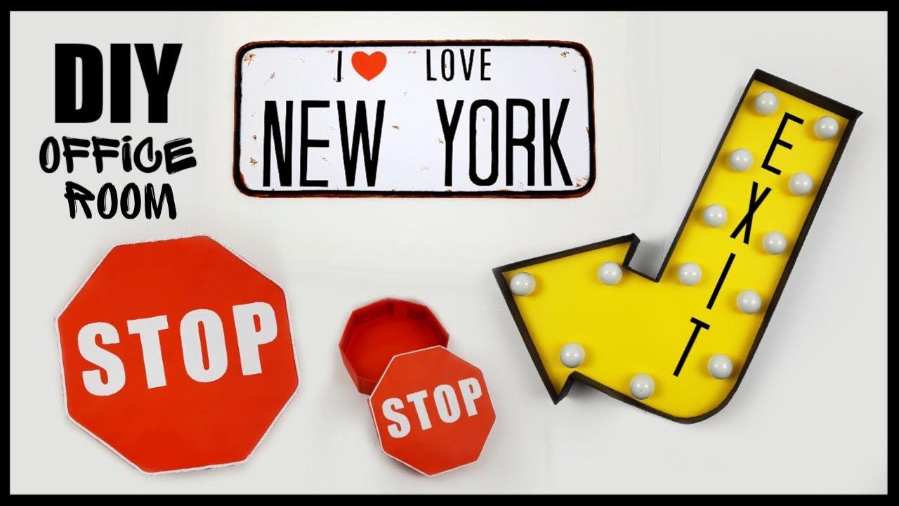 DIY DÉCO CHAMBRE OU BUREAU STYLE NEW YORK / OFFICE ROOM DECOR
