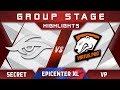 Secret vs VP EPICENTER XL Major 2018 Highlights Dota 2