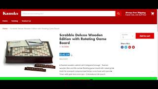 Scrabble Deluxe Kanuks vs Amazon Canada Price