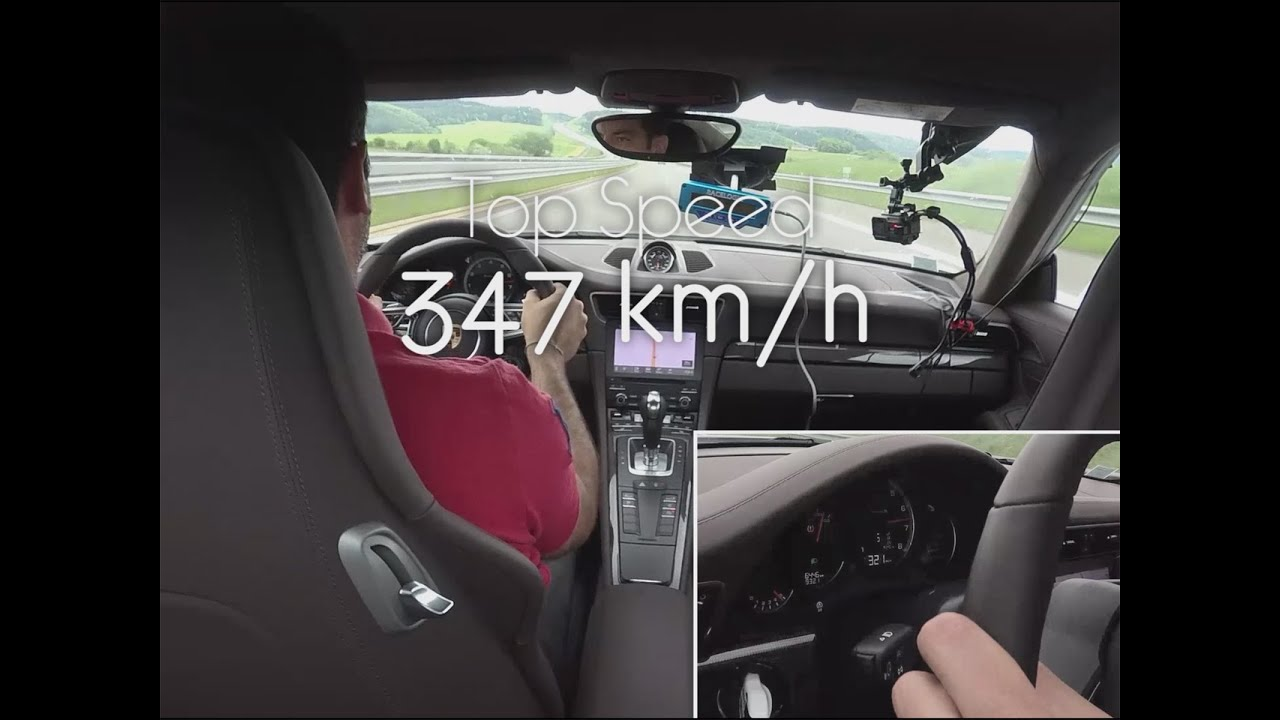 Porsche 911 Turbo S - Top Speed 347 km/h !! - YouTube