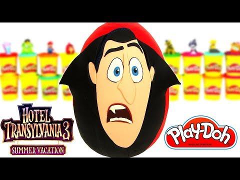 Ovo Surpresa Gigante do Drácula de Hotel Transilvânia 3 em Português  Brasil de Massinha Play Doh