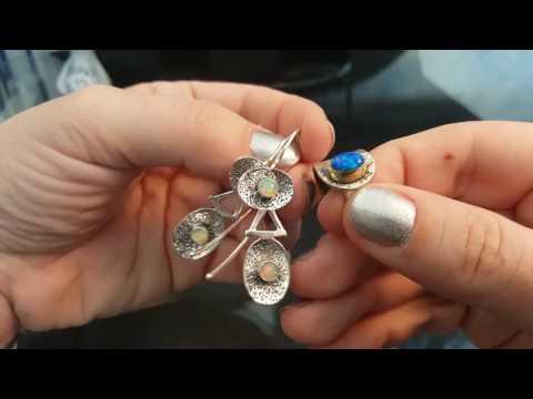 5. Серебряные украшения  . Опал . Опаловое стекло .Адуляр (лунный камень)