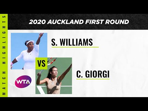 Serena Williams vs. Camila Giorgi | 2020 Auckland Open First Round | WTA Highlights