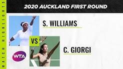 Serena Williams vs. Camila Giorgi | 2020 Auckland Open First Round | WTA Highlights